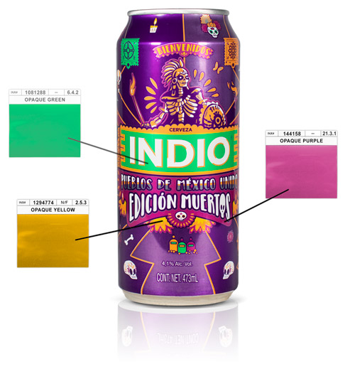 Indio Can with Swatches